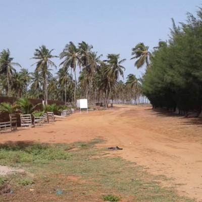 Domaine de 887 m² sis à Ouidah à 1,3 km de l'océan atlantique