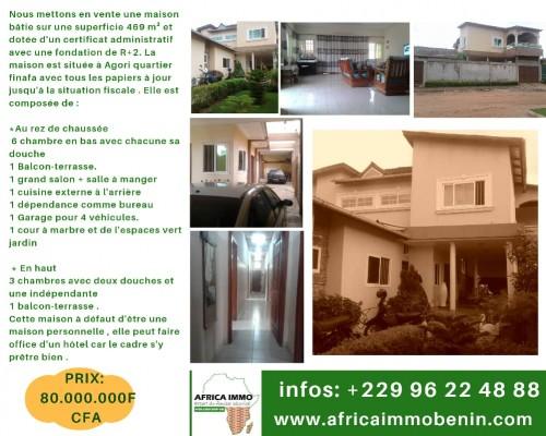 Grande Maison à vendre à Calavi